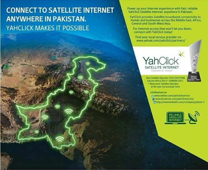 , YahClick Officially Launched Satellite Internet in Pakistan