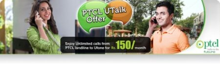 , PTCL UTALK:Unlimited Calls from PTCL to Ufone