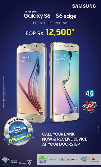 , Samsung Galaxy S6 &  S6 Edge Now Available on Installments