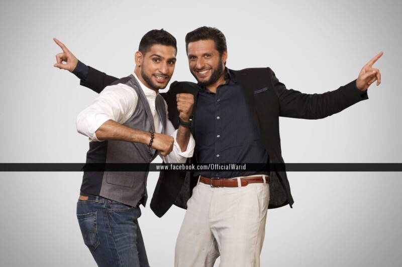 Warid, tvc, amir khan, Shahid Afridi, boxer, cricketer, Boxer Amir Khan and Shahid Afridi to appear together in Warid's upcoming TVC