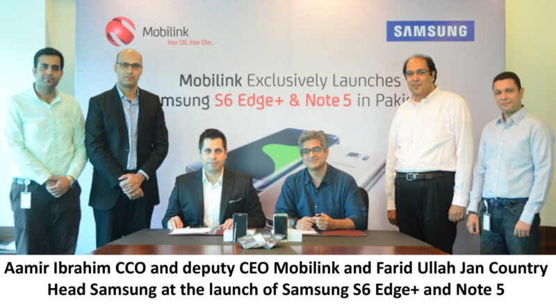 Mobilink, Samsung, galaxy, s6 edge plus, note 5, Samsung Galaxy, Mobilink to Launch Samsungs Galaxy Note 5 and Galaxy S6 Edge Plus