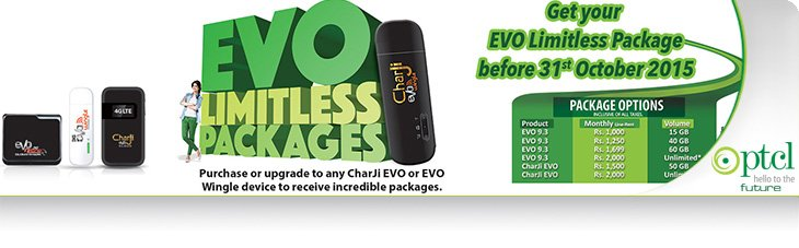 EVO, limitless, evo, ptcl, packages, six, months, PTCL Brings EVO Limitless Packages for Six Months Only