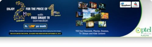 ptcl,ptcl evo,broadband,2mb ptcl,3mb ptcl,4mb ptcl,ptcl 4mb,ptcl 1299,smart tv,smart tv app,ptcl internet packages,ptcl 2mb price,ptcl 1mb price,ptcl new offer,ptcl line,ptcl 4g, PTCL Broadband Promotion: Get 2MB at the Price of 1 MB