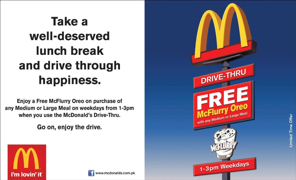 Get ,Mcdonald's, McFlurry Oreo, Free, on, Lunch, Get Mcdonald's McFlurry Oreo Free on Lunch