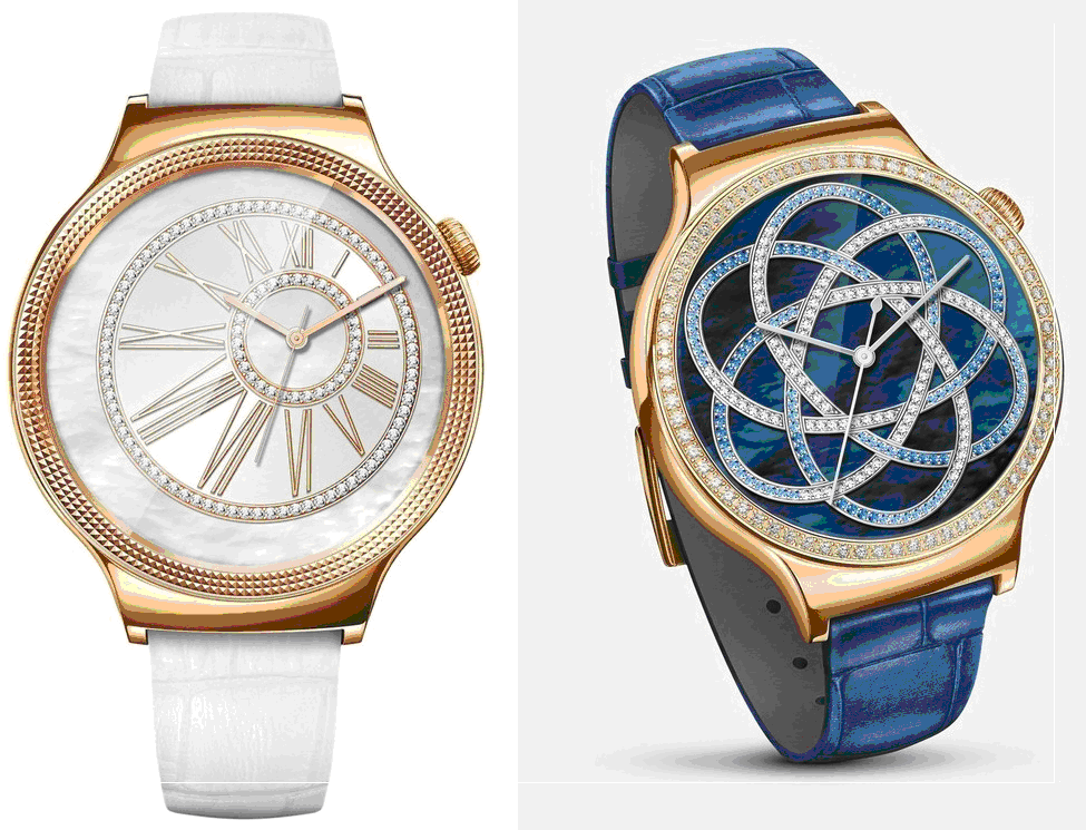 "Huawei Watch Elegant"" and ""Huawei Watch Jewel"