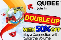 Qubee, Cashback, rs.100 Cashback, double volume, 50% off, qubee internet, qubee internet, cash, back, bill Mobicash, Mobile Account, Qubee Rs.100 Cashback & Double Up 50% Off Offer