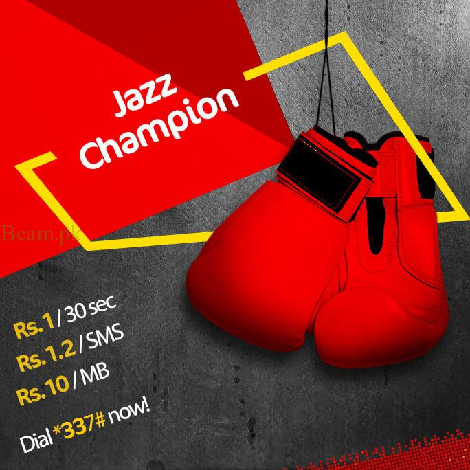 jazz, Internet at Rs.2/MB in Jazz Champion Package