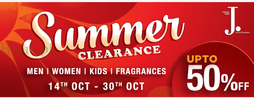 Sale, Junaid Jamshed & Almirah Summer Clearance Sale 2016