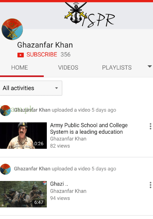 ISPR, ISPR launched Exclusive YouTube Channel