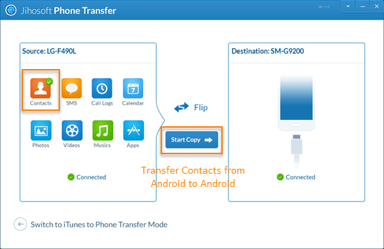 Transfer Contacts, How to Transfer Contacts from Android to Android Phone