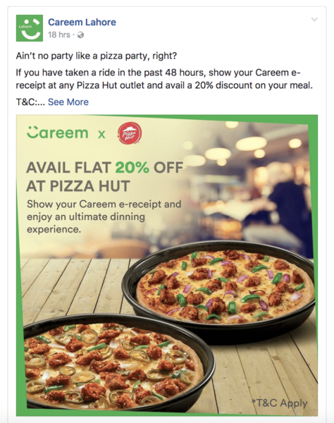 Discount, Careem Announced a Fake Pizza Hut Discount!