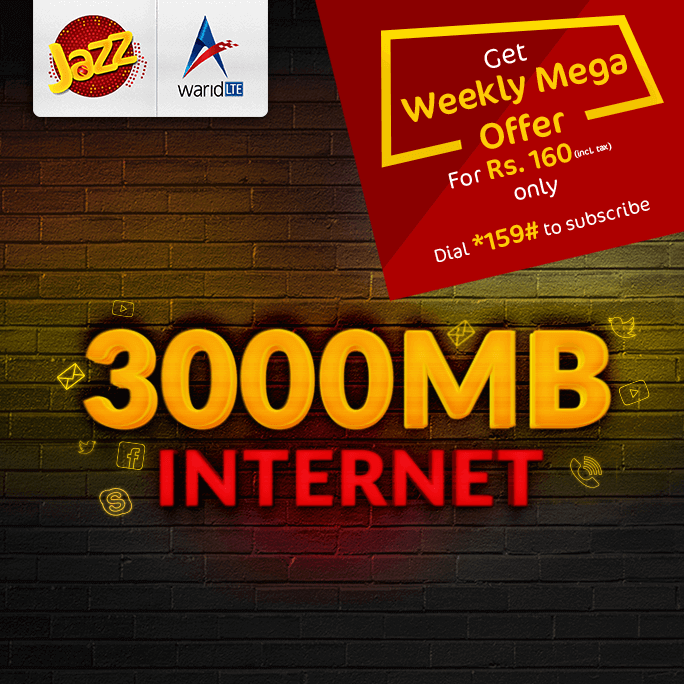 Jazz, Jazz Weekly Mega 3000MB Internet Offer