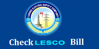 check lesco bill online