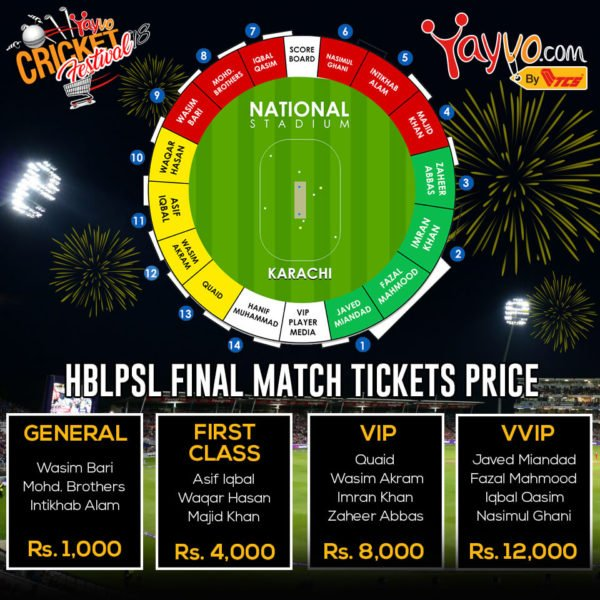 PSL, PSL 2018: Grab PSL 3 Final Match Tickets from 15th March Online only on Yayvo