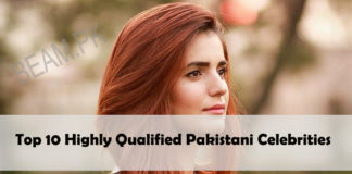 Highly Qualified Pakistani celebrities moina