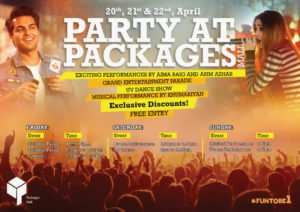 packages mall, Packages Mall Arranges Concert and Discounts on its First Birthday at 20th April