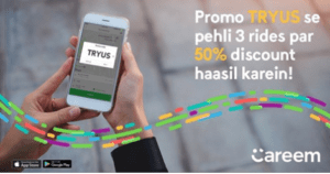 TYRUS, Careem TYRUS promo code to get 50% discount on first three rides