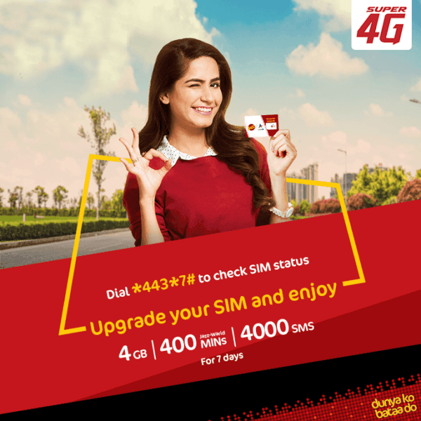 JAZZ 4G SIM Offer