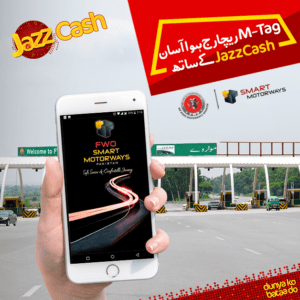 Motorway M-tag Recharge, JazzCash Introduced All new Motorway M-tag Recharge