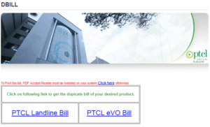 PTCL Online Bill, PTCL Online Bill Complete Details (Check, Download, Pay & Print)
