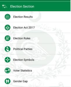 Click ECP election section