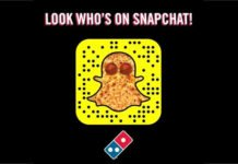 Snapchat App withu domino's