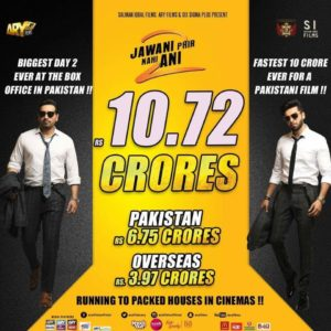 Jawani Phir Nahi Ani 2, Jawani Phir Nahi Ani 2 Make A New Record In Pakistan Box Office