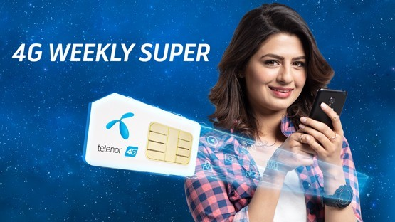 Telenor Super 4G Weekly Internet offer   1500 MB + 500 MB  in just Rs. 100