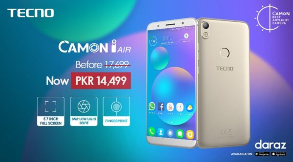 Camon, TECNO Partners with Daraz | Get Discount on Camon i Air