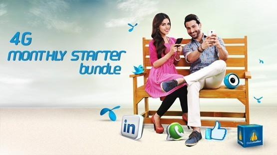 Telenor 4G Monthly Starter Internet offer   4000 MB +4000 MB  in just Rs. 250