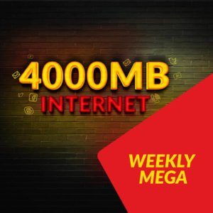 Jazz Weekly Mega Internet Bundle | 4000 MB in just Rs. 160