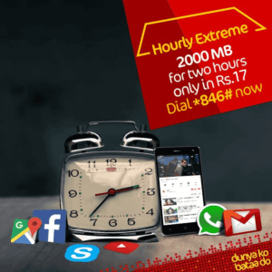 Jazz Hourly Extreme Internet Bundle | 2000 MB in just Rs. 17