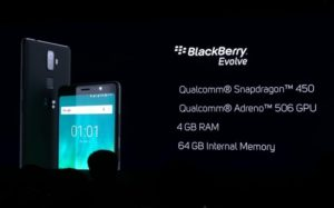 BlackBerry Evolve, New BlackBerry Evolve would come on 10th October 2018| Specifications