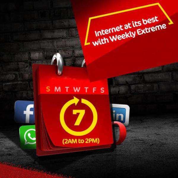 Jazz Weekly Extreme Internet Bundle | 2500 MB in just Rs. 60