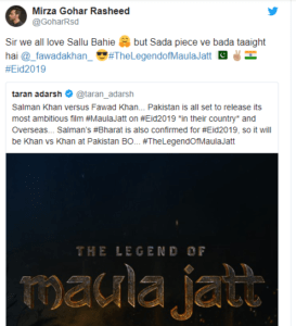 Maula Jatt, The Legend of Maula Jatt & Bharat Films will Come Face to Face on Eid 2019