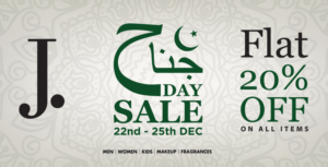 Jinnah Day Sale, Junaid Jamshed Jinnah Day Sale 2018| Flat 20% OFF on Entire Stock