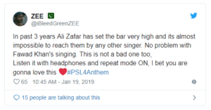 Pakistan Super League 2019, Pakistan Super League 2019 Anthem Finally Out| Negative Response