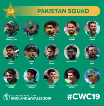 Pakistan's World Cup squad