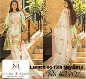 Nadia Hussain, Nadia Hussain Premier Lawn Collection would be Launch on May 15, 2019