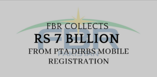FBR collects Rs 7 billions from PTA DIRBS