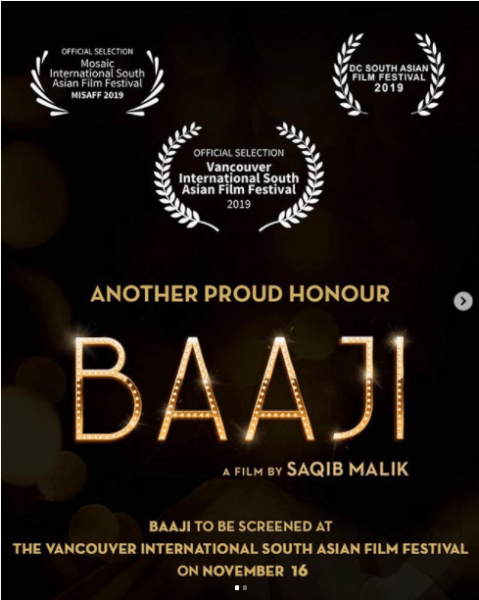 Film Baaji, Pakistani Film Baaji to be screened in Vancouver International South Asian Film Festival
