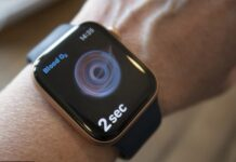 Apple Watch (8) with fertility-planning thermometer